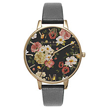 Buy Olivia Burton Women's Winter Garden Leather Strap Watch Online at johnlewis.com