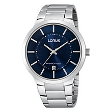 Buy Lorus RS935BX9 Men's Slimline Stylish Bracelet Watch, Silver Online at johnlewis.com
