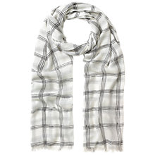 Buy Whistles Grid Print Crinkle Scarf, Cream/Multi Online at johnlewis.com