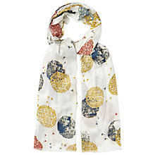 Buy White Stuff Flower Spot Scarf, Off White Online at johnlewis.com