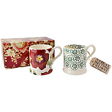 Buy Emma Bridgewater Christmas Rose Mug, Set of 2 Online at johnlewis.com