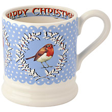 Buy Emma Bridgewater Christmas Robin & Wreath Mug, 0.3L Online at johnlewis.com