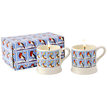 Buy Emma Bridgewater Christmas Stamps Candle Mugs, Set of 2 Online at johnlewis.com