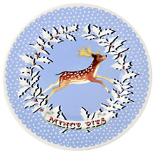 Buy Emma Bridgewater Christmas Wreath Deer Plate, Dia.21.5cm Online at johnlewis.com