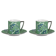 Buy Jasper Conran for Wedgwood Chinoiserie Green Espresso Cups and Saucers, Set of 2 Online at johnlewis.com