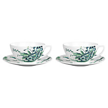 Buy Wedgwood Chinoiserie Cup and Saucer, Set of 2, White Online at johnlewis.com