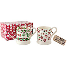 Buy Emma Bridgewater Christmas Joy Mugs, Set of 2 Online at johnlewis.com