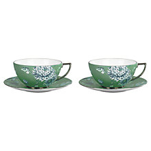 Buy Wedgwood Chinoiserie Cup and Saucer, Set of 2, Green Online at johnlewis.com