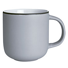 Buy John Lewis Puritan Curved Mug, Light Grey Online at johnlewis.com