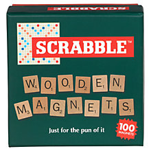 Buy Wild and Wolf Scrabble Wooden Magnets, Natural Online at johnlewis.com