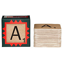 Buy Wild and Wolf Scrabble Beer Mat Coasters, Set of 26, Natural Online at johnlewis.com