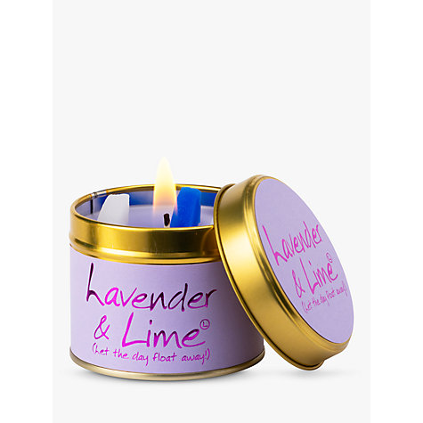 Lavender and lime candle