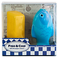 Buy Bluw Fish and Chip Salt and Pepper Shaker, Blue/Yellow Online at johnlewis.com