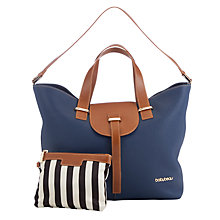 Buy BabyBeau Ellie Leather Changing Bag, Navy Online at johnlewis.com