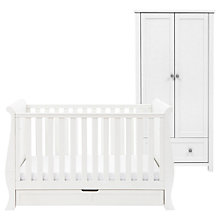 Buy Silver Cross Nostalgia Sleigh Cotbed and Wardrobe, Antique White/Silver Online at johnlewis.com
