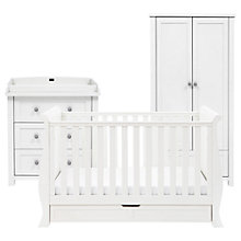 Buy Silver Cross Nostalgia Sleigh Cotbed, Dresser and Wardrobe, Antique White/Silver Online at johnlewis.com