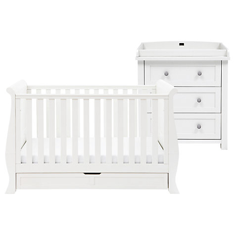 Buy Silver Cross Nostalgia Sleigh Cotbed and Dresser, Antique White/Silver Online at johnlewis.com