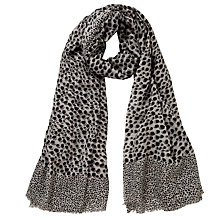 Buy Becksöndergaard Scratch Dots Scarf, Black Online at johnlewis.com