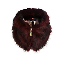 Buy Ted Baker Arba Fau Fur Zip Collar Online at johnlewis.com