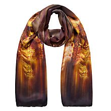 Buy Ted Baker Glitter Trinket Long Silk Scarf, Brown Online at johnlewis.com
