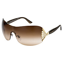 Buy Bvlgari BV6061B Ventaglio Sunglasses, Gold/Brown Online at johnlewis.com