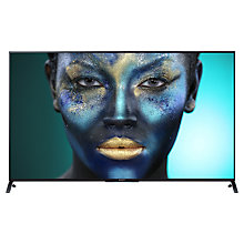 "Buy Sony Bravia KD55X8505 LED 4K Ultra HD 3D Smart TV, 55"", NFC with Freeview HD and 2x 3D Glasses with HT-CT370 Sound Bar & Subwoofer, Black Online at johnlewis.com"