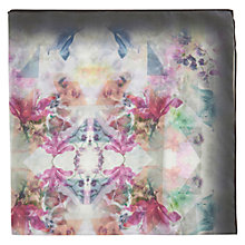 Buy Warehouse Pastel Floral Square Scarf, Cream Online at johnlewis.com
