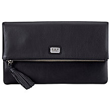 Buy O.S.P OSPREY London Nappa Leather Foldover Clutch Bag, Black Online at johnlewis.com