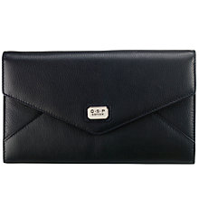 Buy O.S.P OSPREY Sienna Envelope Leather Clutch Bag, Black Online at johnlewis.com