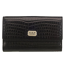 Buy O.S.P OSPREY Como Flapover Baby Croc Leather Purse Online at johnlewis.com