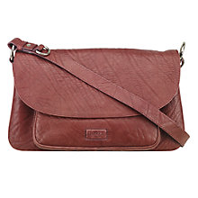 Buy OSPREY LONDON The Monroe Leather Across Body Bag, Red Online at johnlewis.com