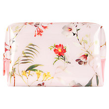 Buy Ted Baker Linba Large Botanical Bloom Wash Bag, Pale Pink Online at johnlewis.com