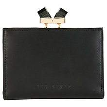 Buy Ted Baker Elly Small Square Crystal Leather Purse, Black Online at johnlewis.com