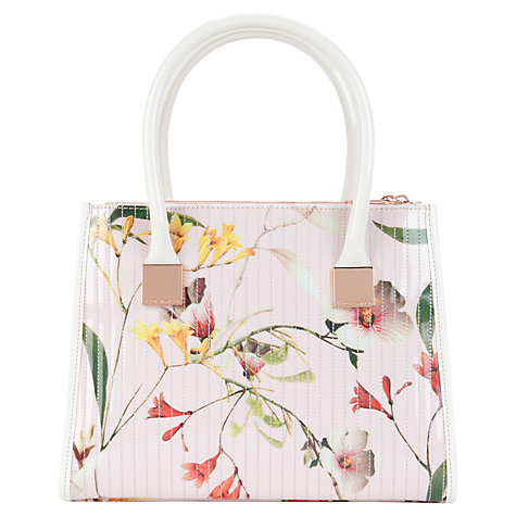 Buy Ted Baker Blosum Botanical Bloom Tote Bag, Pale Pink Online at johnlewis.com