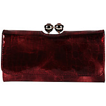 Buy Ted Baker Croc Effect Crystal Top Purse, Dark Red Online at johnlewis.com