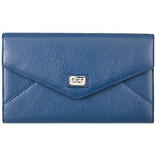 Buy O.S.P OSPREY Sienna Envelope Leather Clutch Bag, Navy Online at johnlewis.com