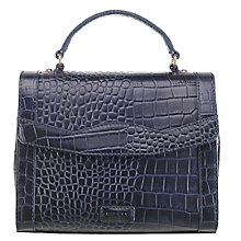 Buy OSPREY LONDON Mimi Leather Croc Grab Bag, Navy Online at johnlewis.com