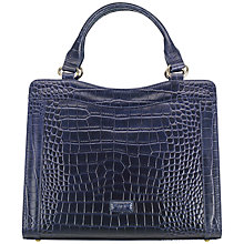 Buy OSPREY LONDON Marquess Leather Croc Shoulder Bag, Navy Online at johnlewis.com