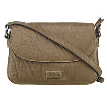Buy OSPREY LONDON Monroe Small Leather Cross Body Bag, Khaki Online at johnlewis.com