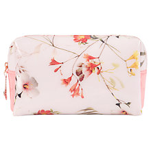 Buy Ted Baker Vomano Small Botanical Bloom Wash Bag, Pale Pink Online at johnlewis.com