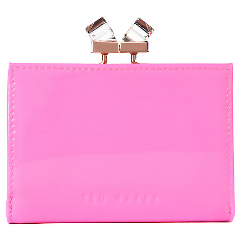 Buy Ted Baker Tanago Patent Leather Crystal Matinee Purse, Mid Pink Online at johnlewis.com