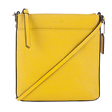 Buy Coach Bleecker Across Body Pebbled Leather Bag Online at johnlewis.com
