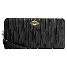 Buy Coach Madison Large Zip Around Gathered Leather Purse Online at johnlewis.com