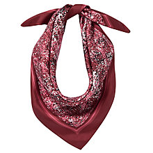 Buy Coach Printed Tweed Box Silk Scarf, Bordeaux Online at johnlewis.com