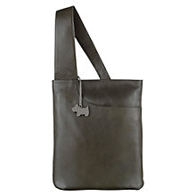 Buy Radley Medium Leather Pocket Across Body Bag, Green Online at johnlewis.com