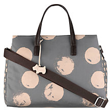 Buy Radley Medium Moon Dots Fabric Grab Bag, Grey Online at johnlewis.com