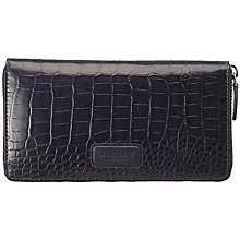 Buy OSPREY LONDON The Large Gaumont Purse, Navy Croc Online at johnlewis.com