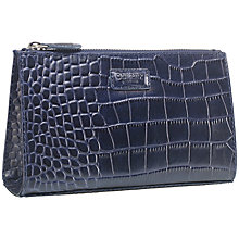 Buy OSPREY LONDON Belle Large Leather Make-up Bag, Navy Online at johnlewis.com