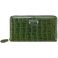 Buy OSPREY LONDON The Large Gaumont Leather Purse, Emerald Croc Online at johnlewis.com