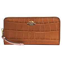 Buy Coach Embossed Large Croc Leather Zip Around Purse Online at johnlewis.com